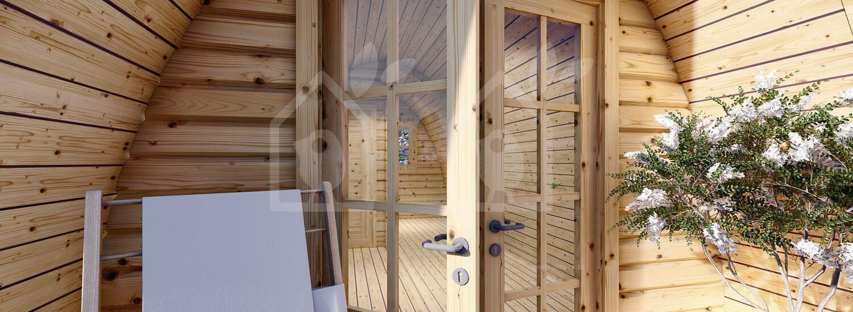 Caseta de jardin BRETA (28 mm), 3x6 m, 18 m² visualization 7