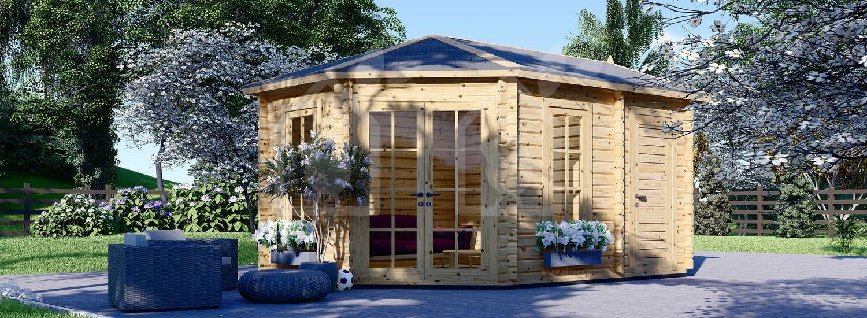 Caseta de madera para jardín KIM (44 mm), 5x3 m, 15 m² visualization 1