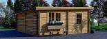 Garaje de madera DOBLE MODERN de tejado plano (44 mm), 6x6 m, 36 m² visualization 7