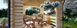 Cenador de madera 9 m² (3x3) 44 mm visualization 6