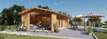Casa de madera para jardín ANNA CLASSIC (44 mm), 37 m² visualization 2