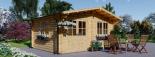 Caseta de jardin LILLE 12 m² (4x3) 34 mm visualization 1