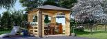 Cenador de madera 9 m² (3x3) 44 mm visualization 1