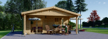 Cabaña de madera para jardín CAMILA (44 mm), 6x4 m, 24 m² visualization 3