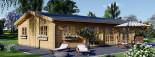 Casa de madera JULIA (66 mm), 103 m² visualization 4
