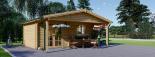 Cabaña de madera para jardín CAMILA (44 mm), 6x4 m, 24 m² visualization 4