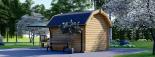 Caseta de jardín ORLANDO 9 m² (3x3) 34 mm visualization 4