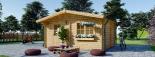 Caseta de madera NINA (44 mm), 6x6 m, 36 m² visualization 3