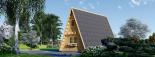 Caseta de madera TIPI, 4.5x7 m, 23 m² visualization 6