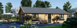 Casa de madera GRETA 44+44 mm, 54 m² visualization 3