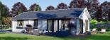 Casa de madera para vivir ANICA (44+44 mm, aislada PLUS), 71 m² visualization 1