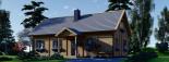 Casa de madera para vivir VERA (44+44 mm, aislada PLUS), 132 m² visualization 6