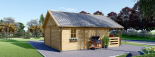Caseta de madera habitable ANGERS (44+44 mm, aislada PLUS), 36 m² visualization 7