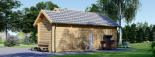 Cabaña de madera para jardín ELLA (44 mm), 28 m² visualization 4