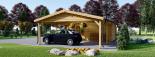 Garaje de madera 400x595 44 mm + Cochera Double 550x595, 57 m² visualization 6