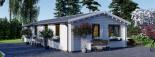Casa de madera AGNES (44+44 mm), 75 m² visualization 5