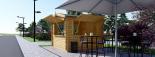 Chiringuito de madera (44 mm), 4x4 m, 16 m² visualization 3