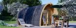 Caseta de madera BRETA (28 mm), 3x6 m, 18 m² visualization 2