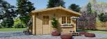 Caseta de madera NINA (44 mm), 6x6 m, 36 m² visualization 2
