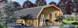 Garaje de madera TEXAS (44 mm), 6x6 m, 36 m² visualization 6