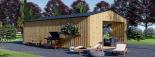 Casa de jardín ANNA SCANDINAVIA (44 mm + revestimiento) , 37 m² visualization 6