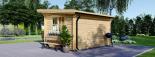 Caseta de jardín de madera DREUX con tejado plano (44 mm), 4x3 m, 12 m² visualization 3