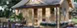 Caseta de madera CLOCKHOUSE (44 mm), 5.5x4 m, 22 m² visualization 7
