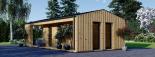Casa de jardín ANNA SCANDINAVIA (44 mm + revestimiento) , 37 m² visualization 4