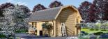 Garaje de madera MISSISSIPPI (44 mm), 5x6 m, 30 m² visualization 3