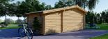 Caseta de jardín ISLA 18m² + porche (2x4) 66mm visualization 5