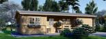 Casa de madera UZES (44 mm), 70 m² visualization 2