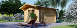 Caseta de jardín de madera PETER (34 mm), 3x4 m, 12 m² visualization 6