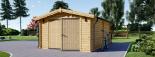 Garaje de madera 360x535 44 mm, 19.9 m² visualization 4