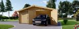 Garaje de madera doble (44 mm), 6x6 m, 36 m² visualization 4