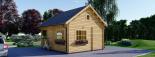 Casa de jardín ALBI (44 mm), 20 m² + porche visualization 5
