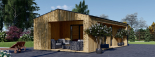 Casa de jardín ANNA SCANDINAVIA (44 mm + revestimiento) , 37 m² visualization 8