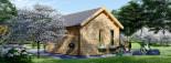 Caseta de madera CLOCKHOUSE (44 mm), 5.5x4 m, 22 m² visualization 4