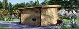 Caseta de jardin LILLE con tejado plano 12 m² (4x3) 34 mm visualization 4