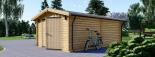 Garaje de madera (44 mm), 3.6x5.3 m, 20 m² visualization 5