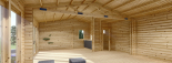 Casa de madera para jardín MARINA (44 mm), 48 m² visualization 10