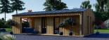 Casa de jardín ANNA SCANDINAVIA (44 mm + revestimiento) , 37 m² visualization 3