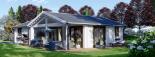 Casa de madera ADELE (44+44 mm), 68 m² visualization 2