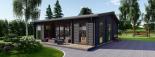 Casa de madera para jardín MILA (44 mm), 56 m² visualization 9