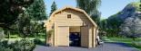 Garaje de madera MISSISSIPPI (44 mm), 5x6 m, 30 m² visualization 7