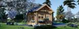 Casa de madera para jardín AVIGNON (44 mm), 20 m² de dos plantas visualization 3