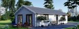 Casa de madera para vivir ANICA (44+44 mm, aislada PLUS), 71 m² visualization 4