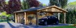 Garaje de madera double 595x595 44 mm + Cochera 300x595, 54 m² visualization 8