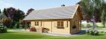 Casa de madera AURA (44+44 mm), 72 m² visualization 6