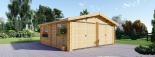 Garaje de madera doble (44 mm), 6x6 m, 36 m² visualization 3