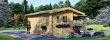 Caseta de jardín OSLO 19.5 m² 34 mm visualization 3